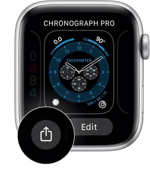 如何从 Apple Watch 共享表盘