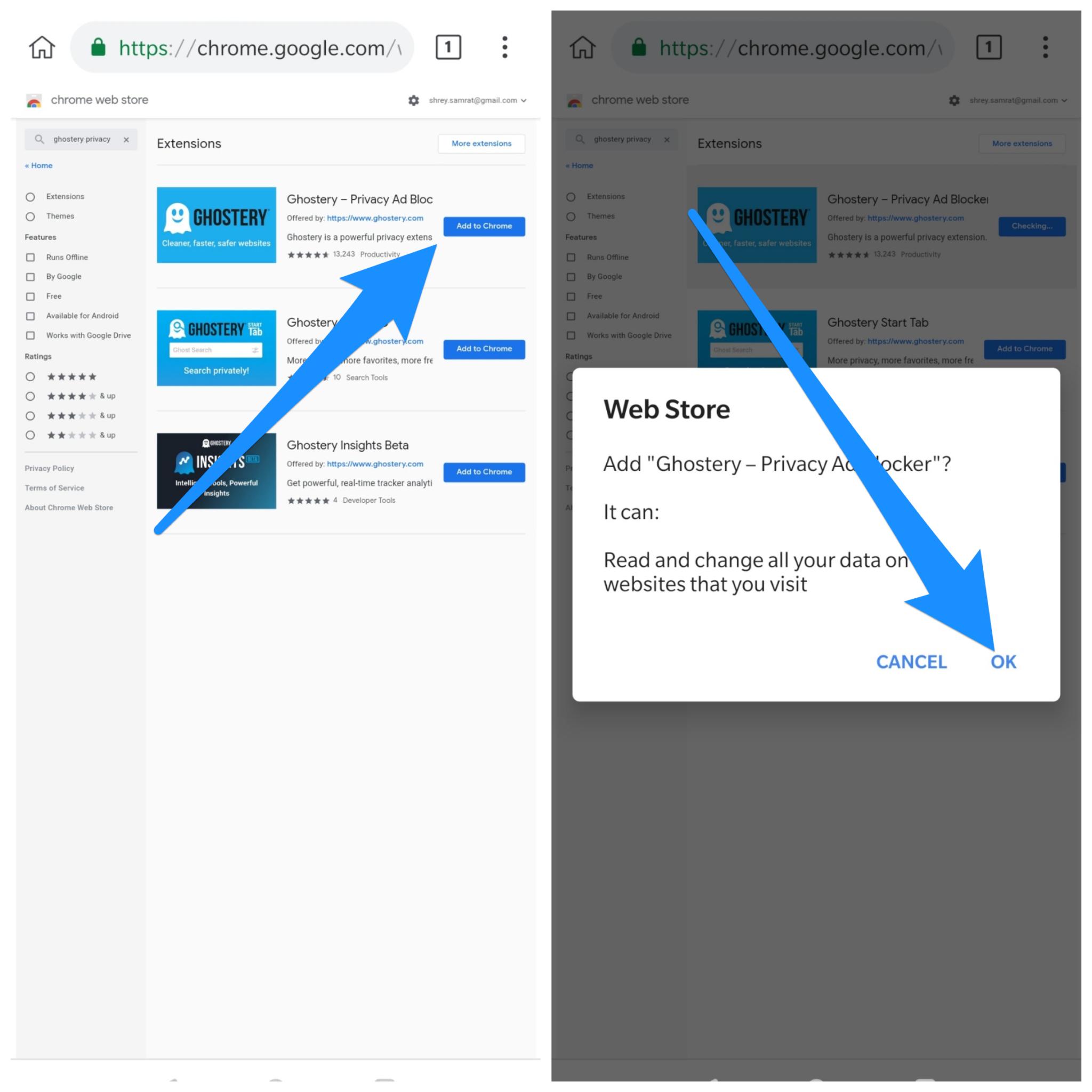 在Android浏览器上安装Google Chrome扩展程序