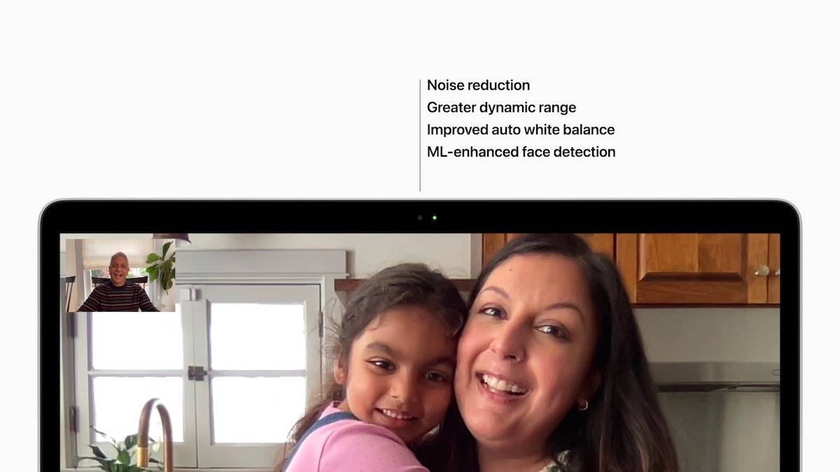 Apple M1 MacBook Air,MacBook Pro卡在720p FaceTime相机上