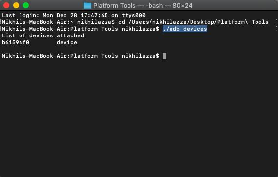 如何在Mac上安装和使用ADB和Fastboot?