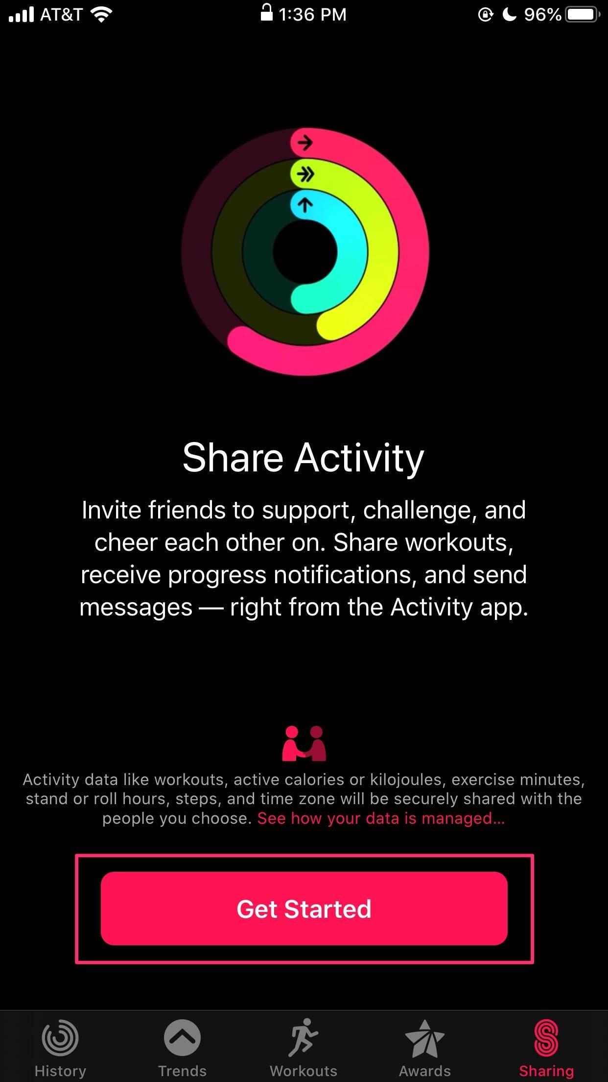 如何在锻炼期间共享Apple Watch活动并向朋友发送消息
