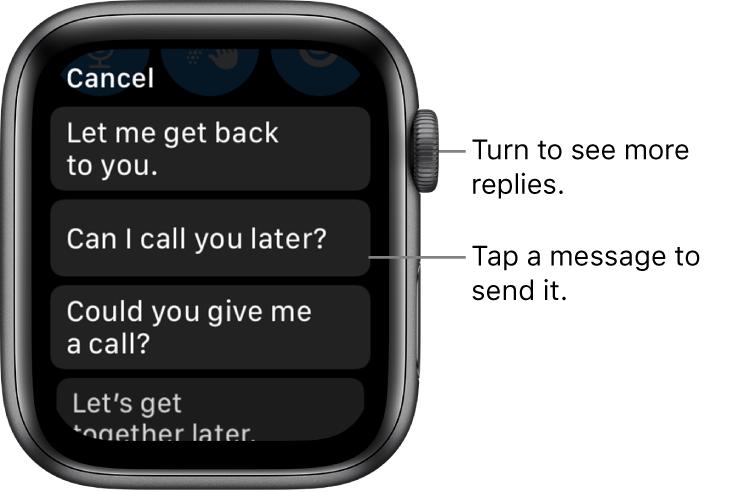 如何在Apple Watch上发送或回复消息