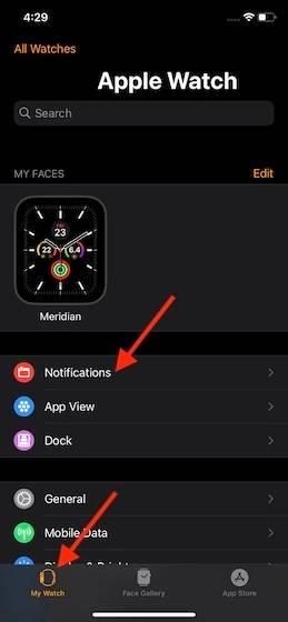 如何在Apple Watch上管理通知分组