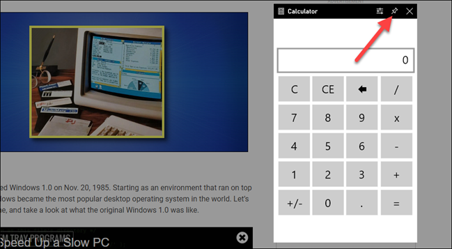 如何在Windows 10的PC游戏中获取永远在线的计算器
