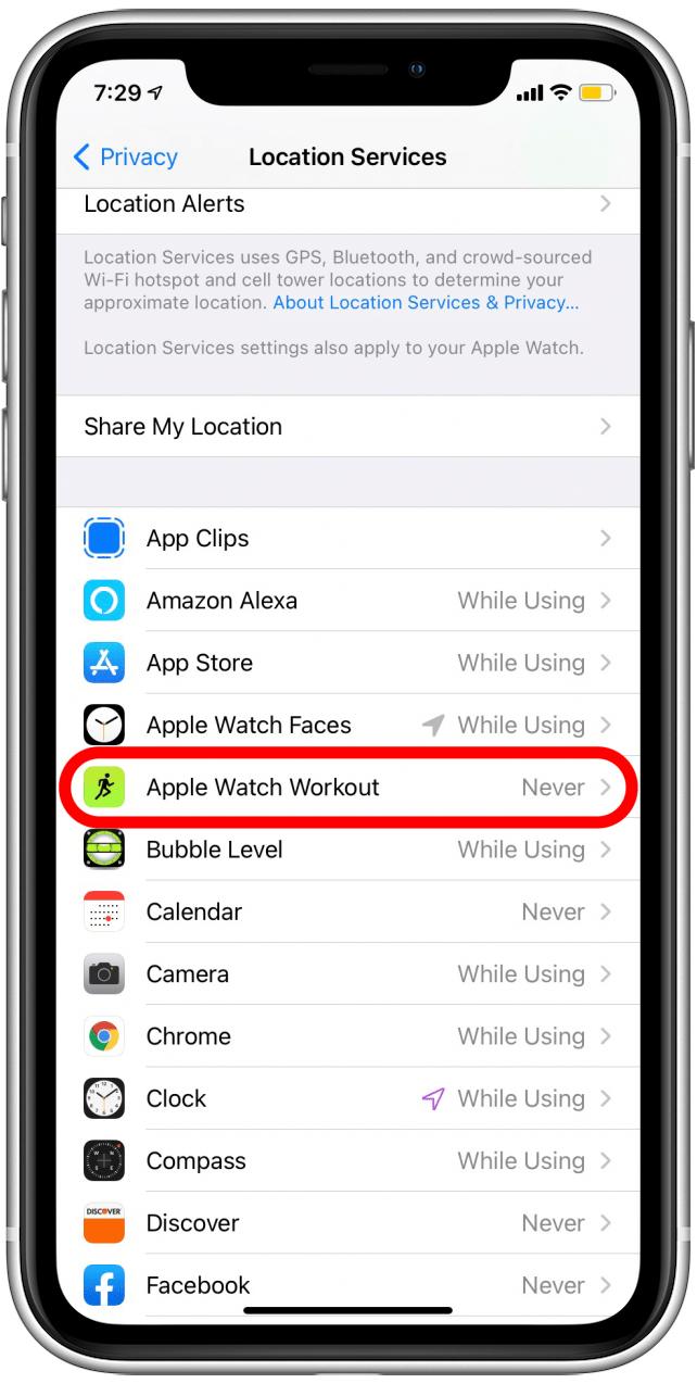 检查您的Apple Watch位置跟踪设置