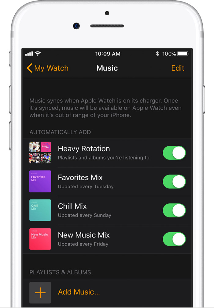 Apple Watch-如何添加您喜欢的播放列表,专辑?