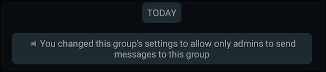如何仅允许管理员在允许管理员组中发送消息