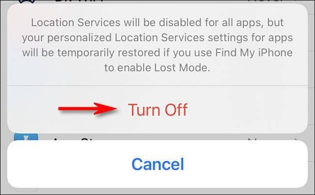 如何在iPhone上关闭GPS位置跟踪