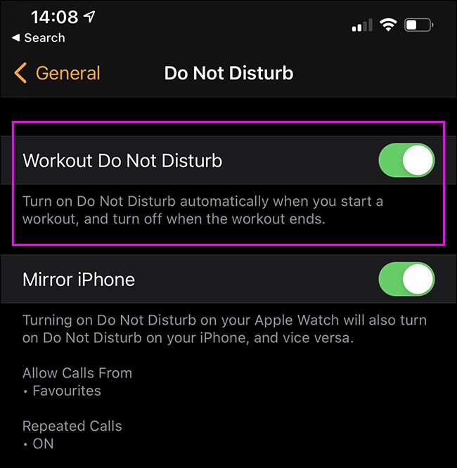如何在Apple Watch的锻炼期间启用请勿打扰