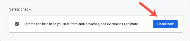 如何在Google Chrome上运行安全检查