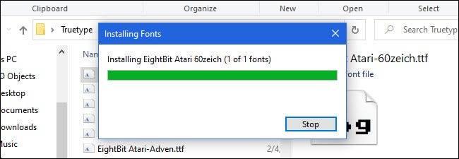 如何在Windows 10上安装(删除)字体文件