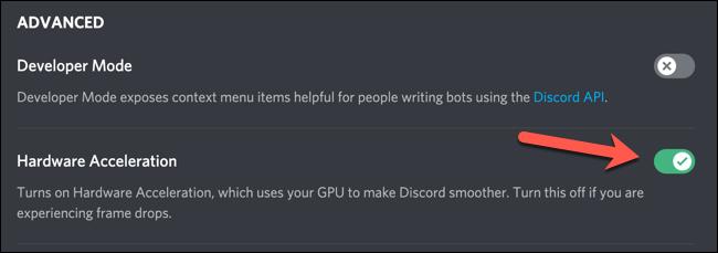 如何在Discord中启用或禁用硬件加速