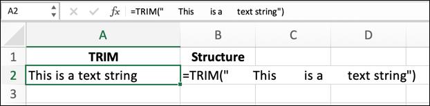 如何在Microsoft Excel中使用TRIM函数