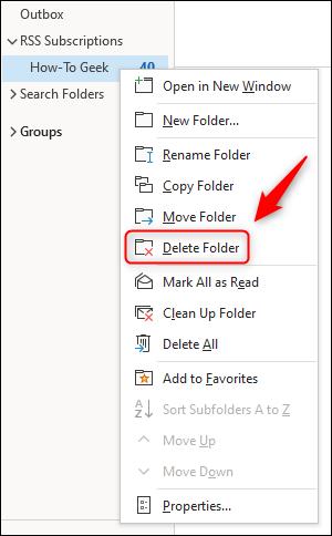 如何使用Microsoft Outlook作为RSS Feed阅读器