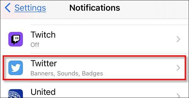 如何在iPhone和iPad上禁用Twitter通知