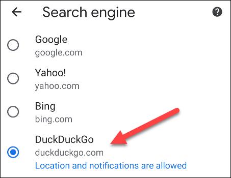 如何在Android上更改默认搜索引擎