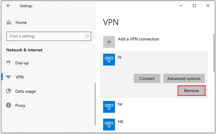 如何在Windows 10上关闭VPN?