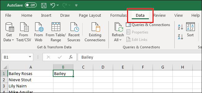 如何使用Flash Fill和Auto Fill自动填充Excel单元格