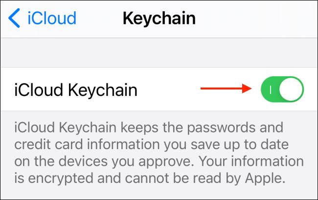 如何在iPhone和iPad上禁用iCloud钥匙串
