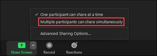如何让人们在Zoom Meeting中共享他们的屏幕