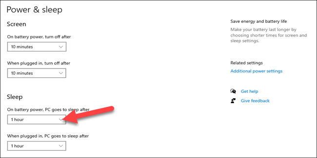 如何选择Windows 10 PC睡眠前等待的时间