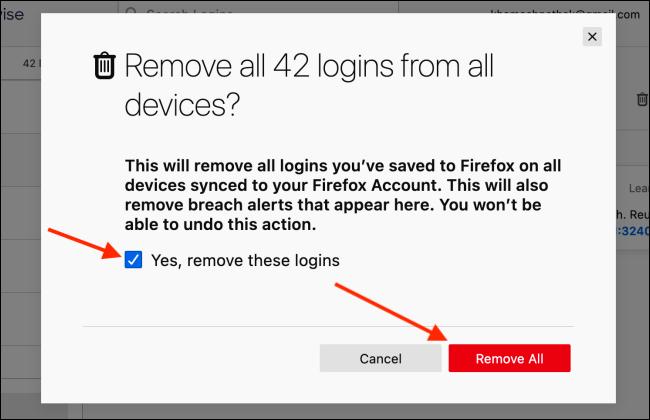 如何在Firefox中导出和删除已保存的密码