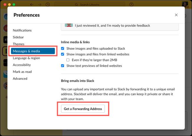 如何直接发送或转发电子邮件到Slack