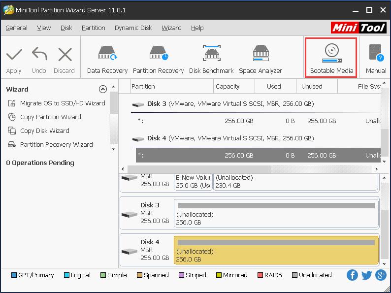 Windows Server 2003分区管理器– MiniTool分区向导