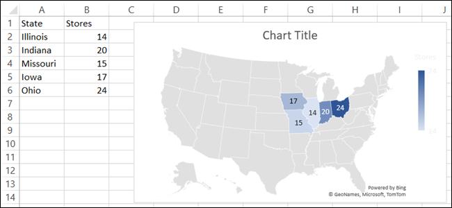 如何在Microsoft Excel中创建地理地图