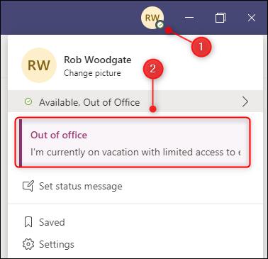 如何在Microsoft Teams中添加状态消息