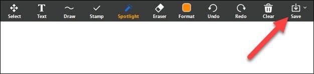 如何使用缩放中的白板功能标记屏幕