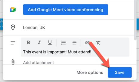 如何在Google日历中添加,编辑或删除重复事件