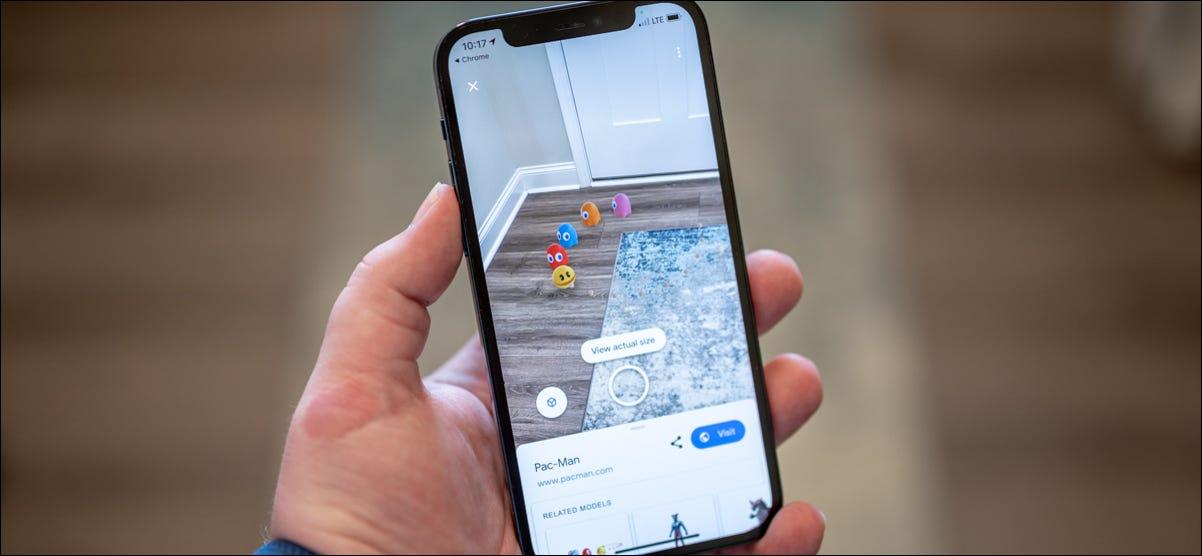 使用Google在手机上查看3D吃豆人和动漫人物