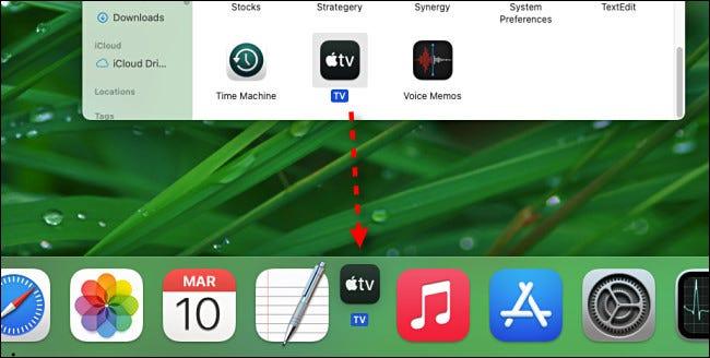 如何在Mac上的Dock中添加应用