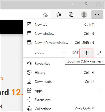如何在PC上放大?(在Web浏览器或Windows中的APP上)