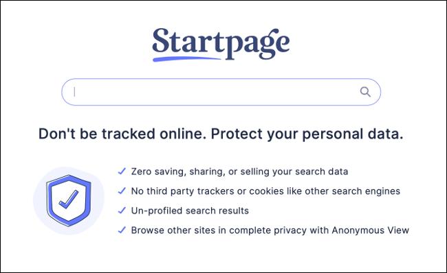 想要没有跟踪的Google搜索结果吗?使用起始页