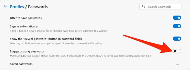 如何在Microsoft Edge中启用(或禁用)密码建议
