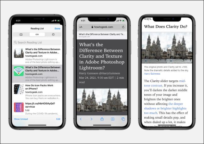 如何保存文章以供以后使用Safari的阅读列表