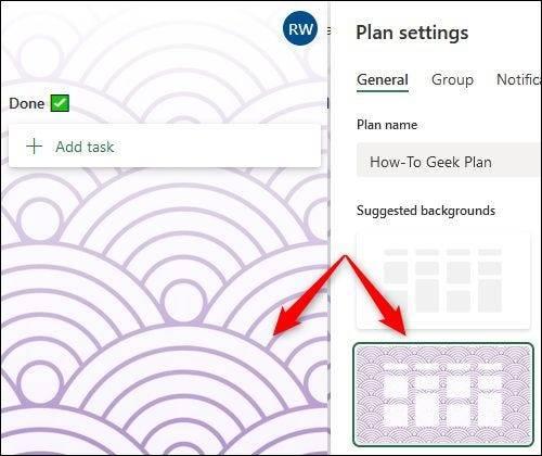 如何在Microsoft Planner中更改背景