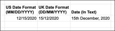 如何在Google表格中更改默认日期格式