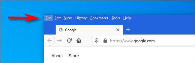 如何在Windows 10或Linux的Firefox中查看菜单栏