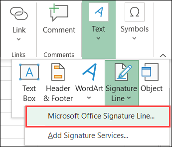 如何在Microsoft Excel中插入和自定义签名行