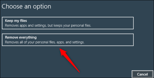 如何使用命令提示符将Windows 10 PC恢复出厂设置
