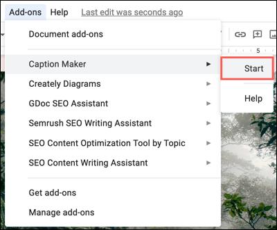 如何在Google文档中的图像上添加字幕