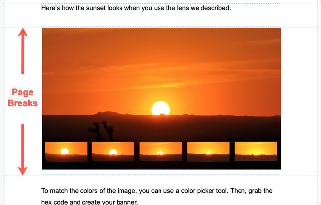 如何在Google文档中一次使用多个页面方向