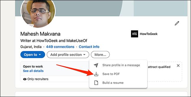如何从您的LinkedIn个人资料快速生成简历