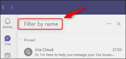 如何在Microsoft Teams中隐藏,固定和筛选聊天