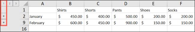 如何在 Microsoft Excel 中创建自动大纲
