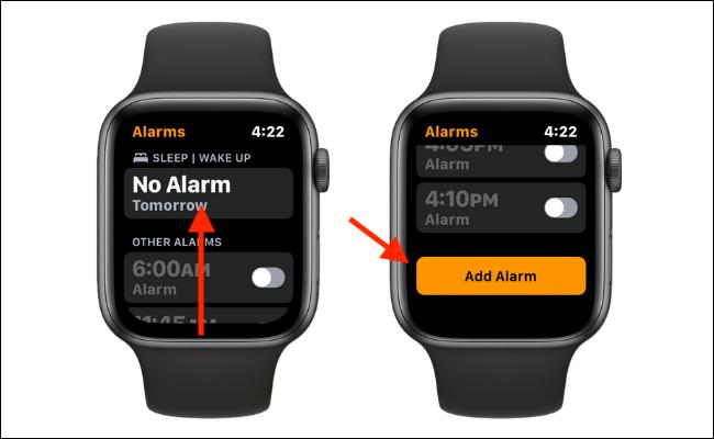如何在 Apple Watch 上设置闹钟