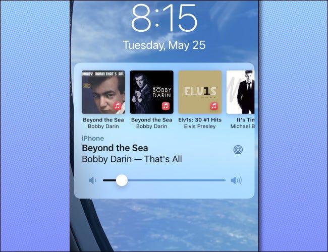如何隐藏 AirPlay 的 iPhone 锁屏播放控件